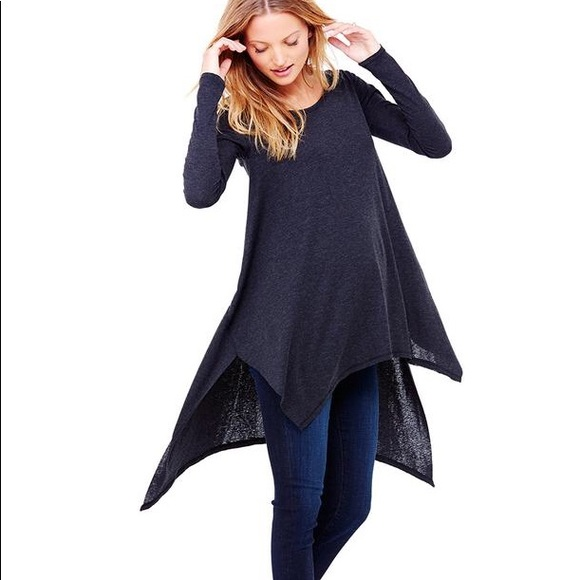 f76a10ad23a3a Ingrid & Isabel Tops - Ingrid & Isabel handkerchief tunic in heather grey